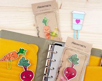 Radish Planner Clip, Radish Paperclip, Planner Accessories, Stationery, Kikki Erin Condren, Bookmarks, Planner Goodies, Vegan Planner Clip