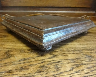 Antique French Wood Pot Pan Trivet Stand Plant Ornament Table Protector circa 1910's / English Shop
