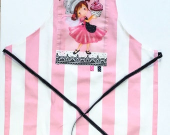 Kids Apron, Apron for Girls, Children's Apron, Christmas gift,Toddler Girl's Apron, Craft Aprons, Kids Art and Craft