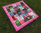 Mosaic Style T-shirt Quilt Custom Order for A Froehlich