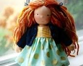 "Sadie, a 10"" Waldorf inspired Doll"