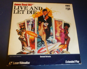 James Bond OO7 Live And Let Die Laser Videodisc Extended Play 1982