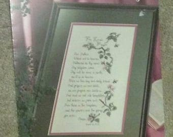 The Lord's Prayer, Leisure Arts, Counted Cross Stitch,  Pattern, Inspirational, Scripture, Religious, Beautiful