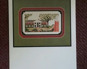 Boone Hall Plantation, Counted Cross Stitch Pattern, Vintage Pattern, Small Leaflet, Cross Stitch, Plantation, OFG