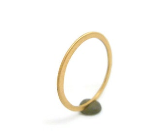 Whisper Thin 18k Gold Band Ring - delicate wedding ring ladies wedding band yellow gold rose gold, dainty promise ring, modern, contemporary