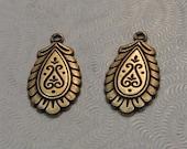 LuxeOrnaments Small Oxidized Brass Filigree Pendant (Qty 2) 19x10mm S-8229-B