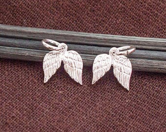 2 of  925 Sterling Silver Angel Wing Charms 9x10mm. :th2590