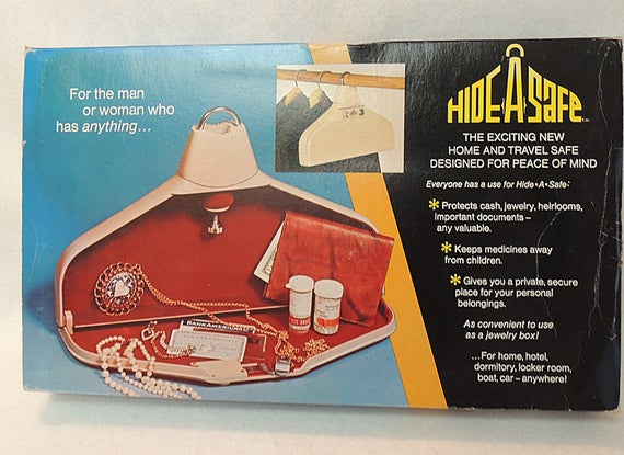 Vintage NIB Mid-Century Safe.. Closet Hanger HIDE-A-SAFE With.. Electronic Alarm