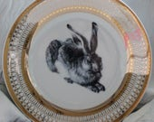 Rabbit Hare Gold Silver Dinnerware/Plates/Dishes, Easter Tableware, Bunny Dishes, Formal, Foodsafe, Payment Plans Available