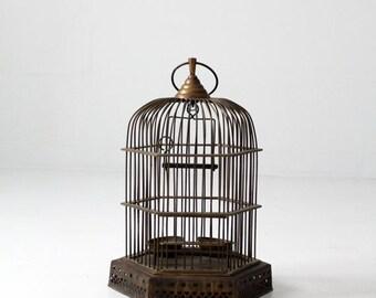 SALE antique brass birdcage, decorative bird cage