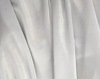 4-Way Stretch Velvet Fabric - White