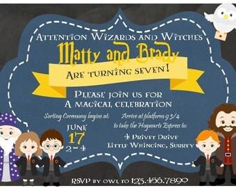 Harry potter birthday invitation Etsy UK