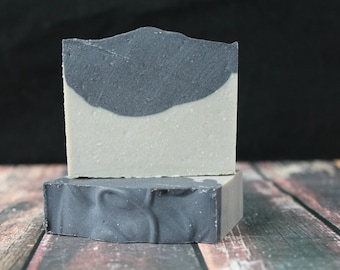 Tea Tree Charcoal Soap with Sea Clay, Vegan Soap, Natural Soap