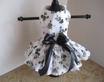 Dog Dress  Black Roses