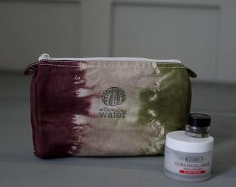 Make Up Bag, Travel Bag, Pencil Case, Tie Dye Cotton Case, Small Cotton Bag, Travel Organization, Purse Organization, Tie Dye, Moss Plum