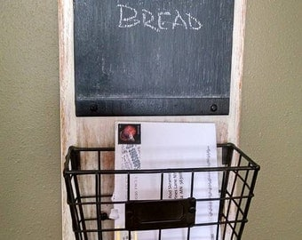 Reclaimed/Recycled/Upcycled..Distressed Reclaimed Message Center...Unique Handcrafted Gift Idea......Chalkboard..Christmas..Wedding