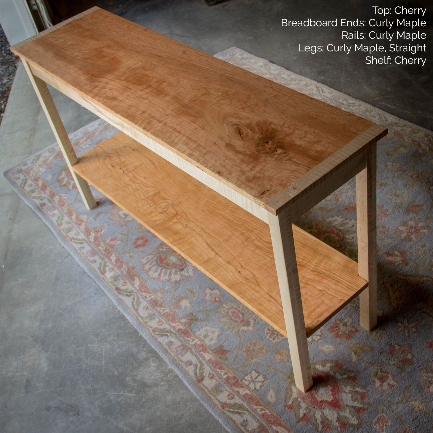 52 x 15 Shaker Inspired Hardwood Console Table w
