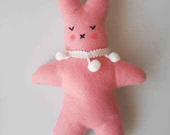 Pink Felt Easter Bunny Plush Toy/Decor - Soft Toy, Kids Room Decor, Nursery Decor, Plushies!