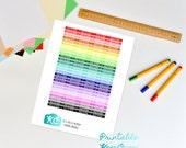No Class and Midterm Planner Headers Printable Sticker Sheet for Erin Condren, Mambi Happy Planner, Kikki K