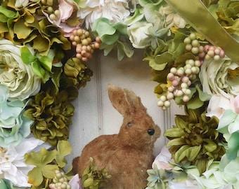 Easter Wreath , Spring Wreath , Wreath , Summer Door Wreath , Outdoor Wreath ,  Hydrangea Wreath , Front Door ,  Wreath For The Door