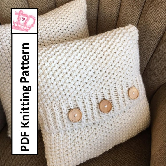 Knit pattern pdf knit pillow cover pattern Super Simple Seed