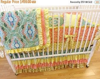 SPRING CLEANING SALE--- Baby Bedding-----Made to Order------Girl Crib Bedding Set