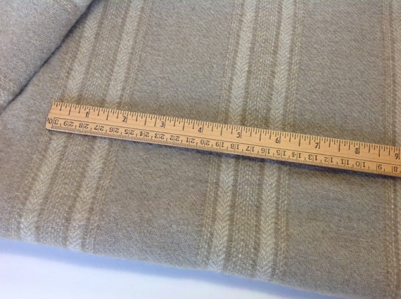 Warm Gray Stripe, Wool Fabric for Rug Hooking and Appliqué, One yard or 1/2 yd or 1/4 yd, W269,  Light Gray, Linen Gray