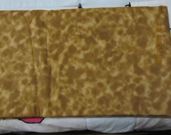 Marbled Shades of Golden Brown Hippy Tie Dye Blender 1 Yard Cotton Fabric