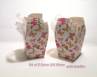Gift Boxes Wedding Favor Box Gift Boxes with Lids AND Handles Party Favor Boxes Shower Gift Box Small Small Floral Box Tuck Top Kraft Box