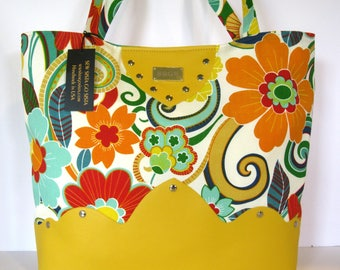 Yellow handbag purse pocketbook tote bag