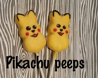 Seasonal item 12 Pikachu peeps pokemon party favors Pokémon easter treats chocolate covered peeps limited time only