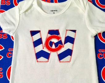 Cubs Win Baseball Bodysuit /Baby Boy