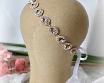 Rose Gold Bridal Hair Piece, wedding headpiece, Rose Gold Headband, ELSIE, Rhinestone Headband, Wedding Headband, Bridal Headband, Bridal