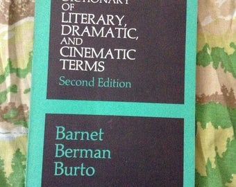 vintage book 1971 Dictionary Of Literary, Dramatic, And Cinematic Terms