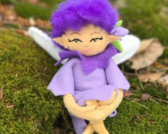 Fairy Sewing Kit, Felt Fairy Kit, Felt Doll Kit, Beginner Sewing Kit, DIY Sewing, Doll Pattern - 'Twilight' Heidi Boyd