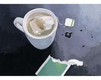 """5x7"""" print - still life - """"Tea"""""""