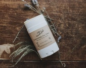 Lavender Tea Tree All natural Deodorant- NO Aluminum or Parabens-Shea butter-cocoa butter-clay-beeswax -essential oils
