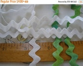 "Fab White Cotton Rick Rack Trim choose yards 1/2"" Ric Rac yardage craft paper tag supply dye scrapbook 13mm bulk"