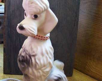 French poodle night lamp, plastic table light