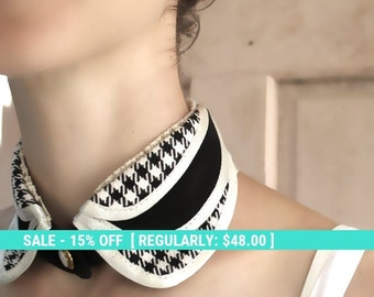 SALE! Detachable collar necklace, black collar, shirt collar, removable collar