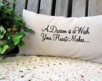 """8""""x16"""" Custom Embroidered Pillow Cover Lumbar Pillow Linen Look In Your Choice Of Colors"""