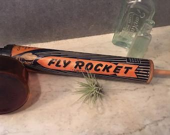 Vintage glass fly bug sprayer farm style plant decor