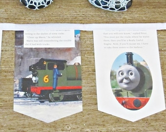 SALE Thomas The Tank Engine Party Bunting - Toby's Tightrope Train Decor - Nursery Baby Shower