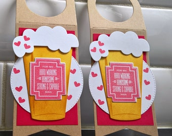 Valentine Gift for Husband, Valentine's Day Gift for Boyfriend, Beer Valentine Card, Beer Bottle Tag, Microbrew Tag, Beer Gift Tag