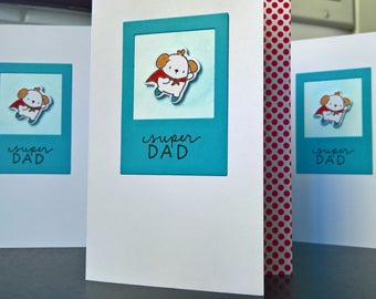 Dog Father's Day Card, Father's Day Card from Dog, Father's Day Gift, Dog Lover Card for Husband, Card for Grandfather, Super Dad