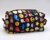 Emoji Travel Pouch, Text Ditty Bag, Dopp Kit, Toiletry Bag, Texting Tweets, Pencil Case, Makeup Bag, Zip Pouch, Gifts for Teens,