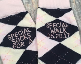 Father of the Bride gift - Groom Socks - Mens Dress Socks - of all our walks - Wedding Gift - Dad Gift - Father of the Bride socks - wedding