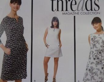 PRINCESS SEAM DRESS Pattern • Simplicity 3744 • Miss 14-22 • Sleeveless Dress • Threads • Sewing Pattern • Modern Patterns • WhiletheCatNaps