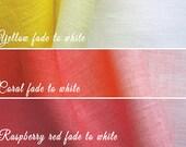 CUSTOM ombre linen fabric sample
