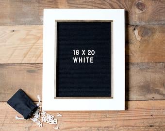 """Letter Board - 16""""x20'' - Felt - Changeable Plastic Letters. Black or Gray Felt. Modern Farmhouse Decor. Letterboard"""